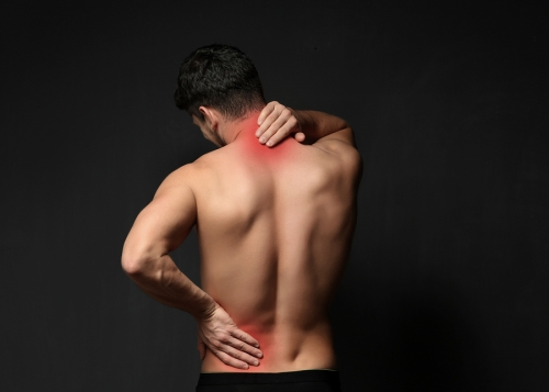 man suffering from spinal stenosis